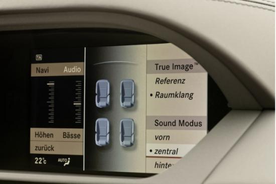 2011款奔驰S63 AMG中控显示屏