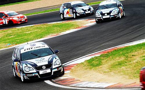 图为上海大众333车队赛车在CTCC比赛中