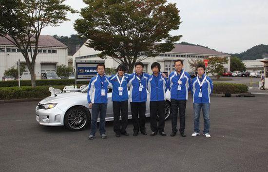 斯巴鲁中国拉力车队的全体成员