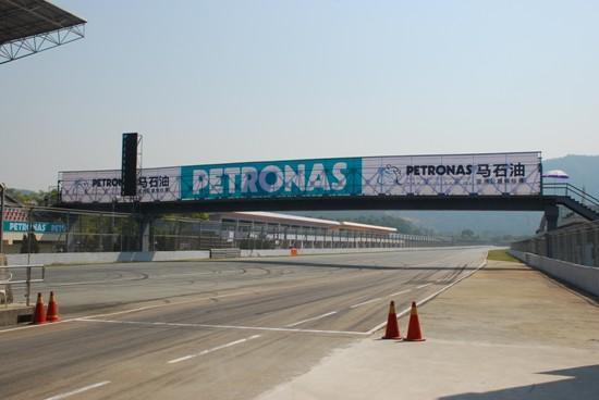 宽敞的珠海国际赛车场跑道