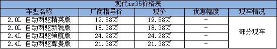 ix35价格表