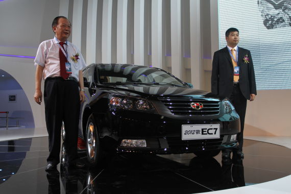 2012款帝豪EC7系成都车展上市现场图