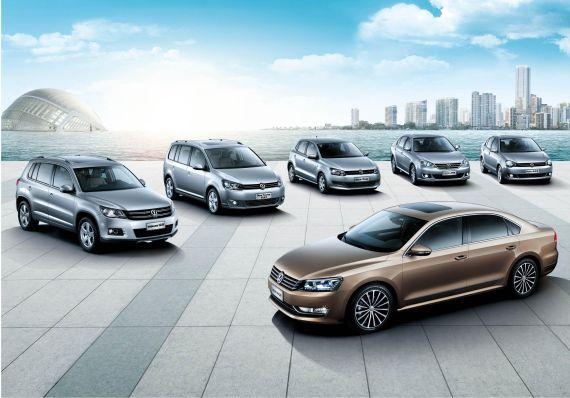 上海大众多款车型亮相成都车展