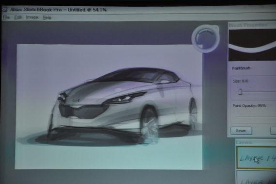 韩国起亚汽车设计中心设计师汽车素描秀
