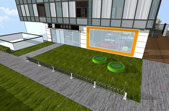 环境优雅的新展厅外景