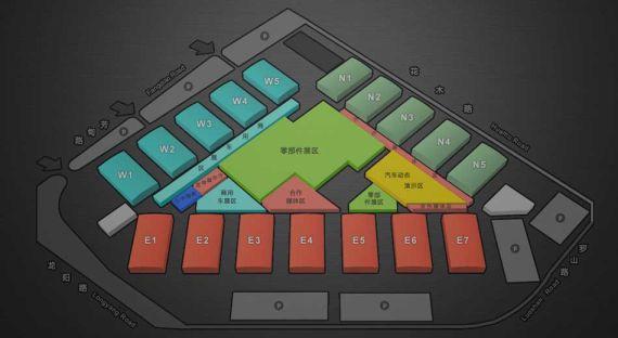 上海新国际博览中心展馆分布图