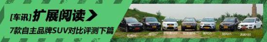 用实力说话 7款自主品牌SUV对比评测下篇