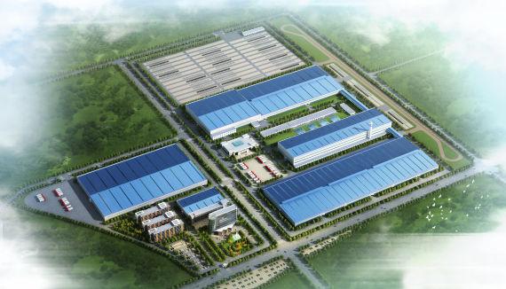 河南速达交通集团年产20万辆电动车项目鸟瞰图