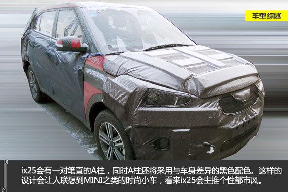 目前ix25的外观造型还没有揭开面纱