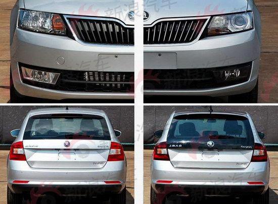 图为国产版昕动高低配车型对比,左侧为低配车型