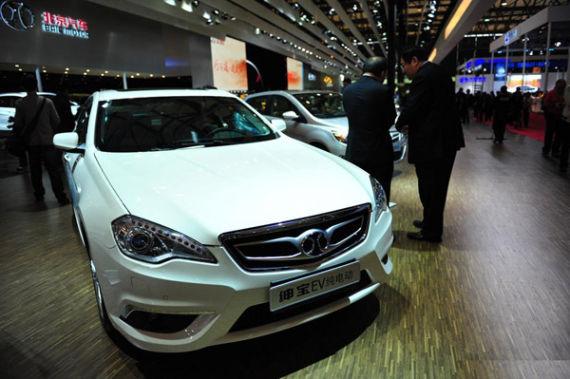 为搭载BESK汽车用电池包的北汽绅宝EV纯电动车-BESK顶级汽车用高清图片