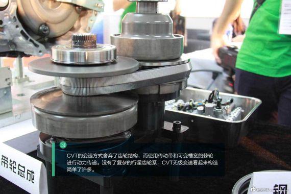 传统CVT的钢条带轮总成