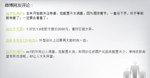 微博网友对启辰R30的评论