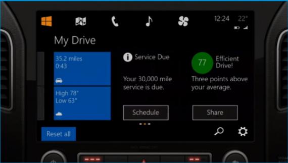微软开发Windows in the Car