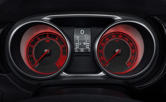 MG GS仪表盘 红色背光 实拍