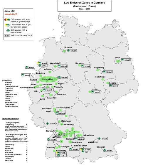 图4 2014年德国限行示意图