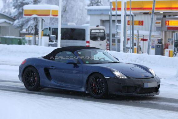 Porsche Boxster RS Spyder谍照