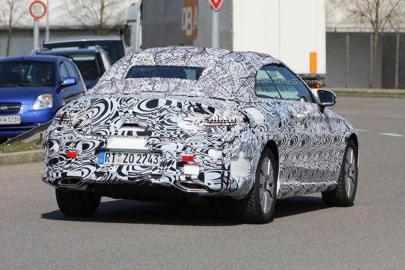 Mercedes C-Class Cabrio spy 06