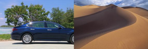车体的流线源自于劲风吹过沙丘后苍茫浑厚的圆缓之美