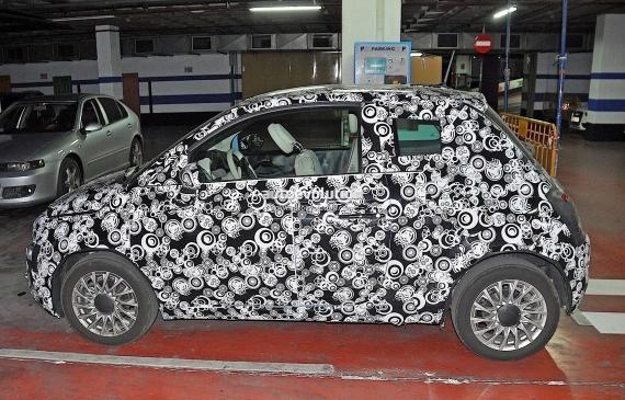 Fiat 500 Facelift Spy 02