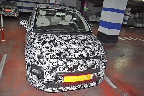Fiat 500 Facelift Spy 05