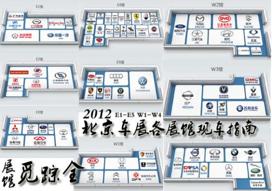 2012北京车展各展馆观车指南