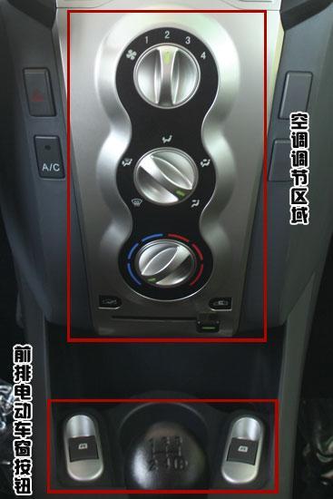 中控台下方的空调控制面板