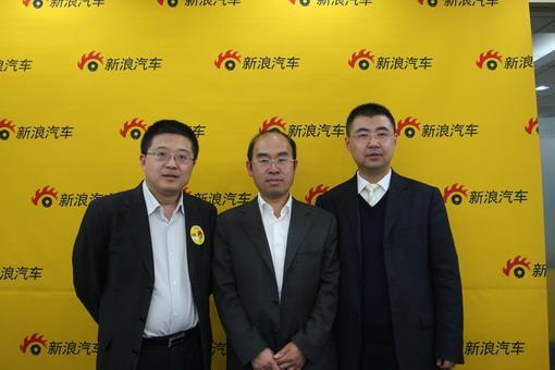 中国汽车流通协会副秘书长王都、国家信息中心信息资源开发部主任徐长明、长安汽车市场部副部长杨大勇(从左至右)