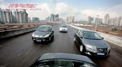 对比广州本田锋范vs一汽丰田卡罗拉vs上海大众朗逸vs东风标致307