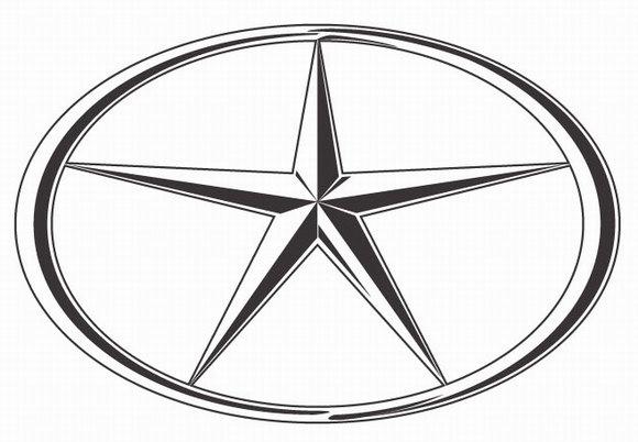 五角星标志的车图片