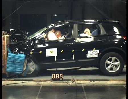 逍客原型车Qashqai获得E-NCAP碰撞最高分