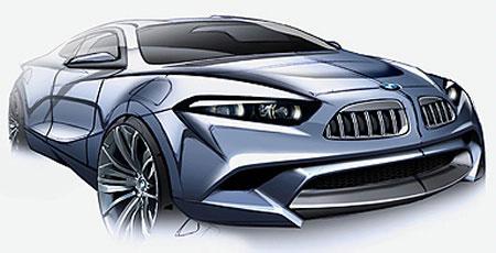 宝马Z10ED跑车设计草图曝光将对抗奥迪R8