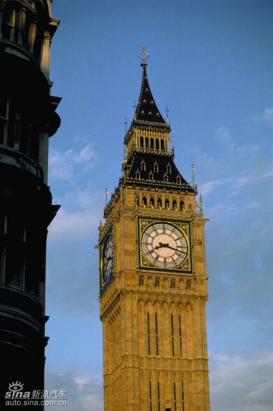 图为英国知名建筑物图片.