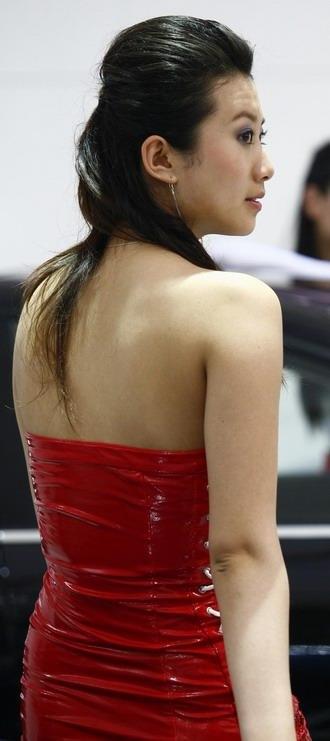 组图:2007上海车展十大模特玉背风情