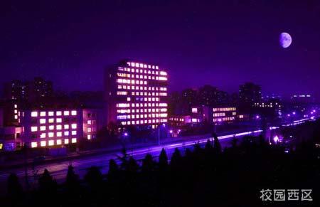 图文 北京工业大学校园风景 校园西区图片