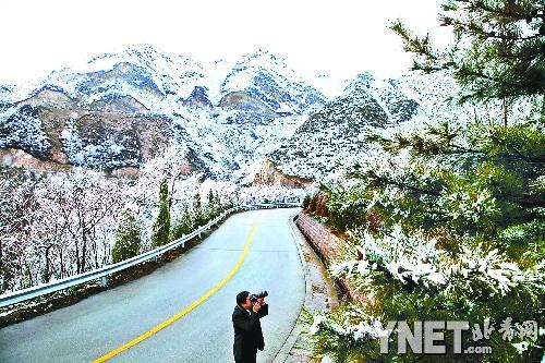 延庆地区四月飘雪