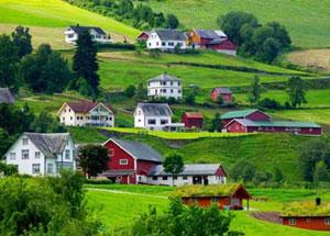迷醉欧洲 穿越挪威的灵山秀水