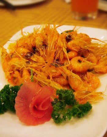 瑞福园招牌菜--油爆虾