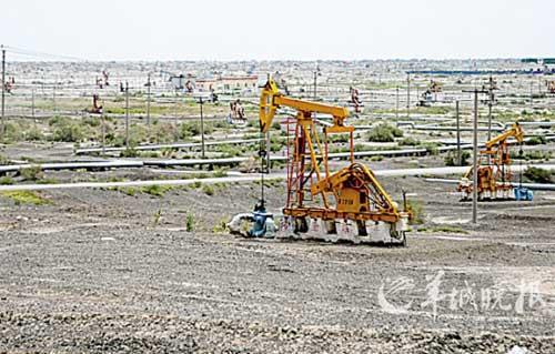 克拉玛依大油田