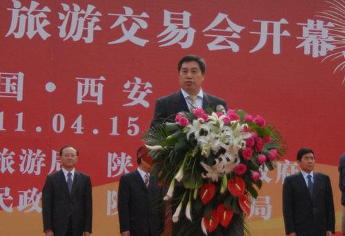 国家旅游局副局长祝善忠在开幕会上致辞