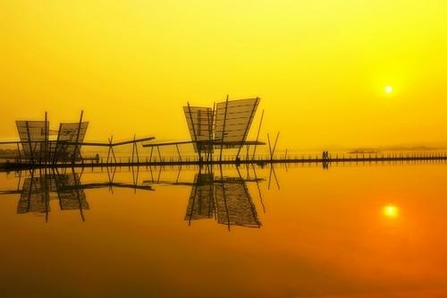 蠡湖新景-百米高喷