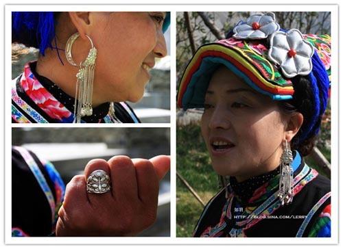 好客的羌族妇女
