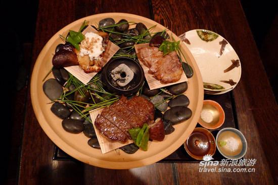 令人赞叹的怀石料理,这是信州牛肉、猪肉和鱼肉
