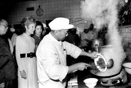 美国总统尼克松携夫人访华期间下榻北京饭店