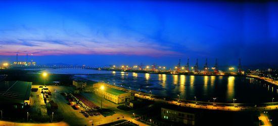 北仑港夜色