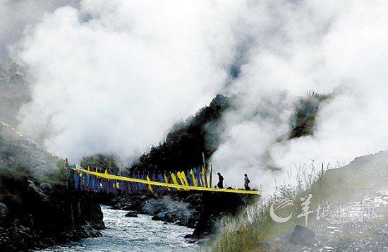 川西第一地热公园巴塘措普沟热坑温泉群