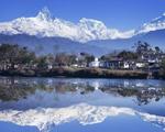【尼泊尔】穿着短袖看雪山