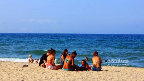 沙滩休闲时光