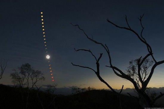 2012年于澳大利亚拍摄的日食照。