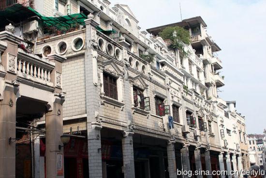 现存骑楼街道22条 图片来源:粤北游子 新浪博客